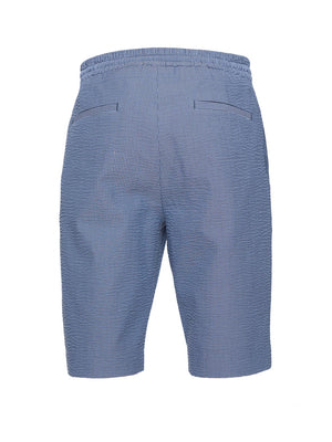 Wiltshire Jogger Shorts - Slim - Blue Seersucker