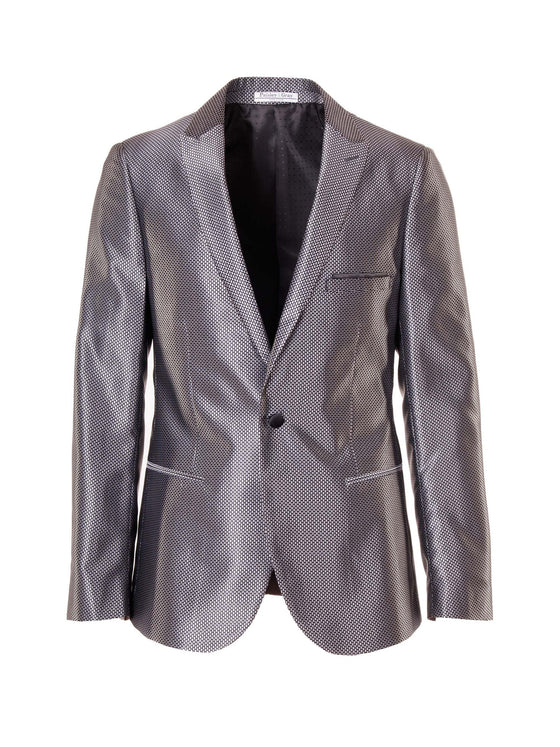 Grosvenor Peak Dinner Jacket - Shiny Grey