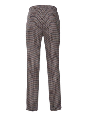 Ltd Edition Downing Pants - Slim - Black & Beige Small Check
