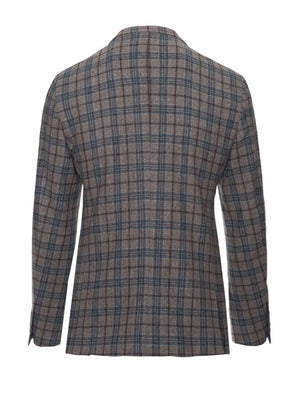 Ashton Peak Jacket - Blue & Gray Check