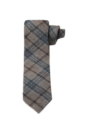 Stanley Tie - Blue & Gray Check