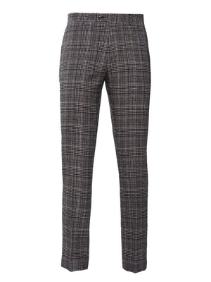 Downing Pant - White & Blue Check