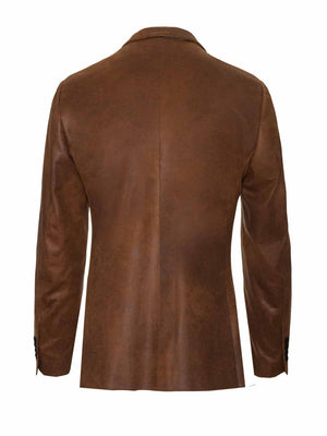 Dover Notch Jacket - Cognac Vegan Leather