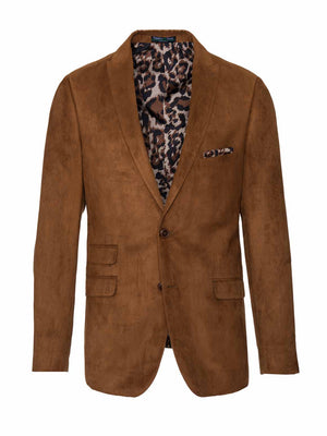 Ashton Peak Jacket - Slim - Cognac Ultrasuede
