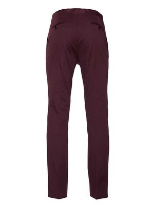 Downing Pants - Slim - Burgundy Twill