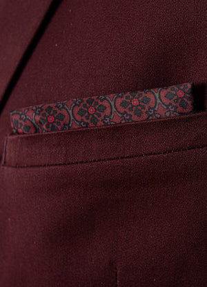Dover Notch Jacket - Slim - Burgundy Twill