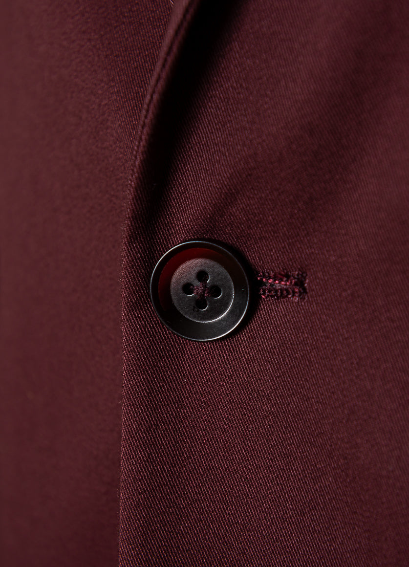 Dover Notch Jacket - Burgundy Twill