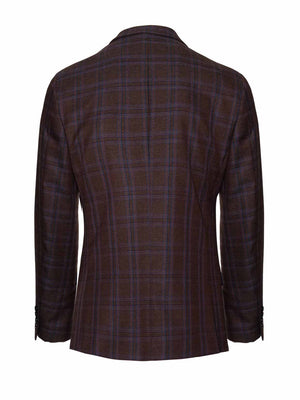 Dover Notch Jacket - Brown & Red Check