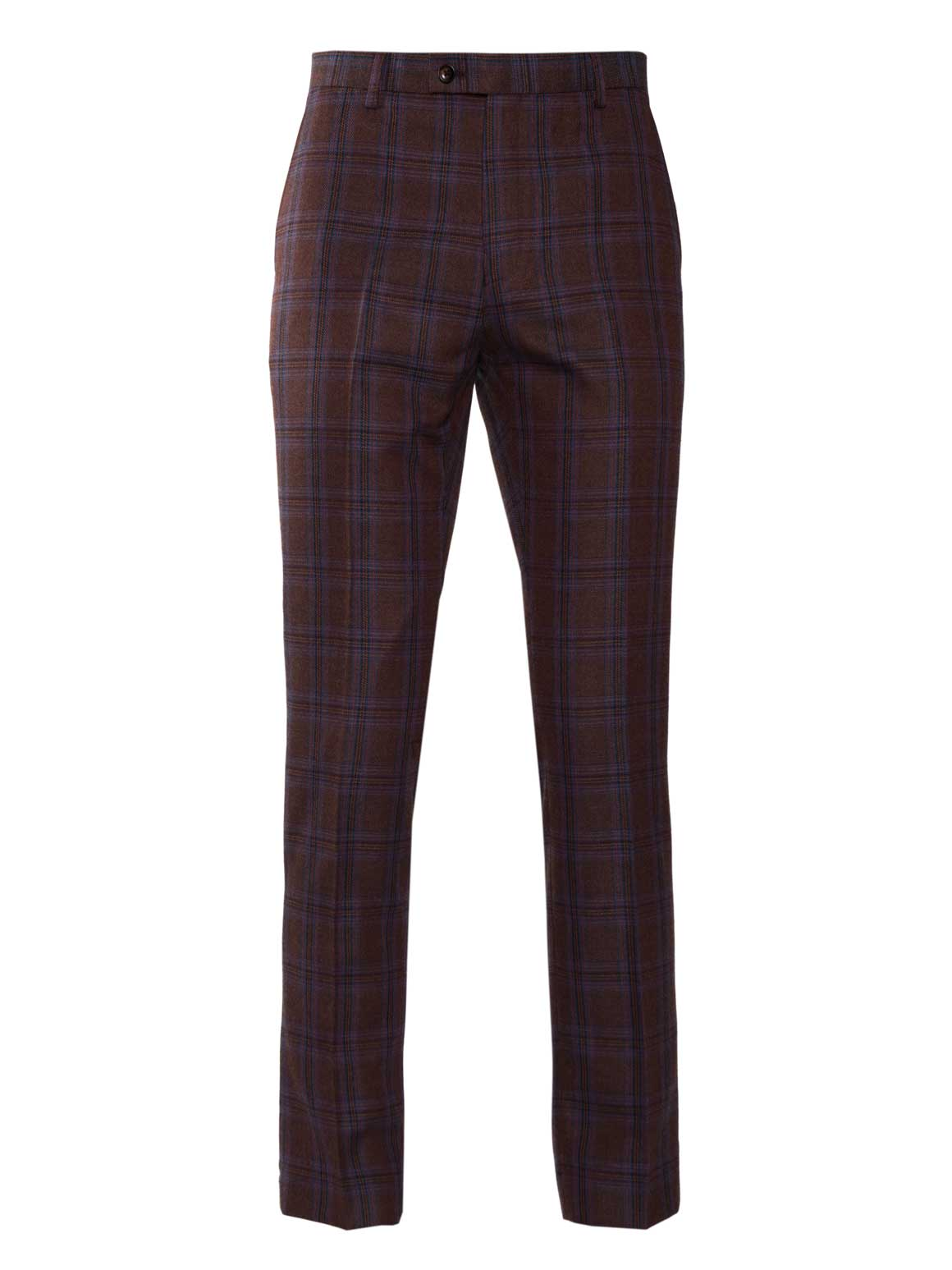 Downing Pant - Brown & Red Check