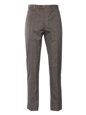 Downing Pant - Tan & Blue Check