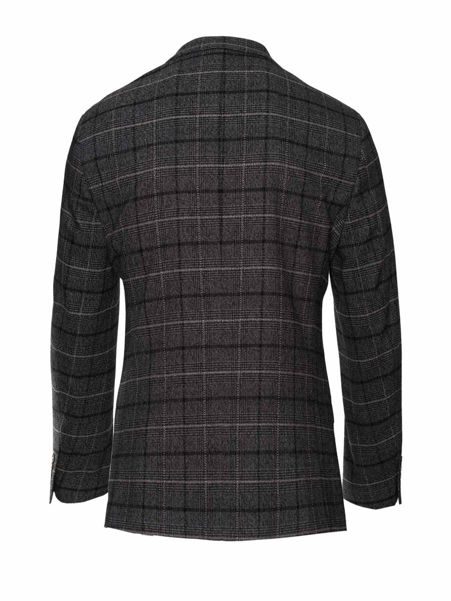 Ashton Peak Jacket - Charcoal Running Plaid