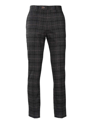 Downing Pants - Slim - Charcoal Running Plaid