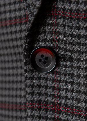 Smithfield Skinny Peak Jacket - Grey, Black & Red Houndstooth