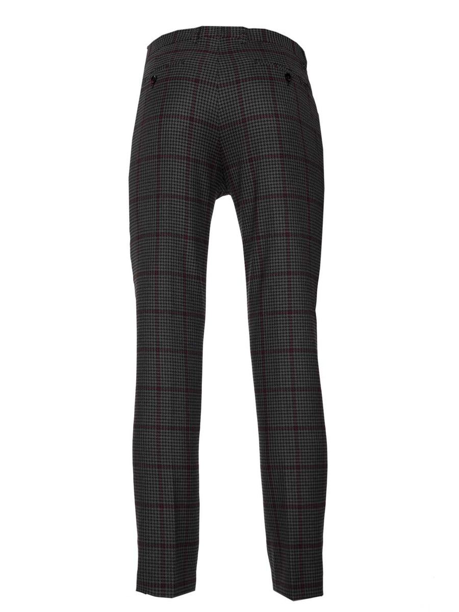 Camden Skinny Fit Pant - Grey, Black & Red Houndstooth