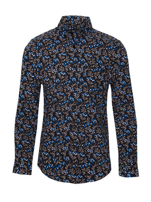 Long Sleeve Shirt - Royal Blue Berries