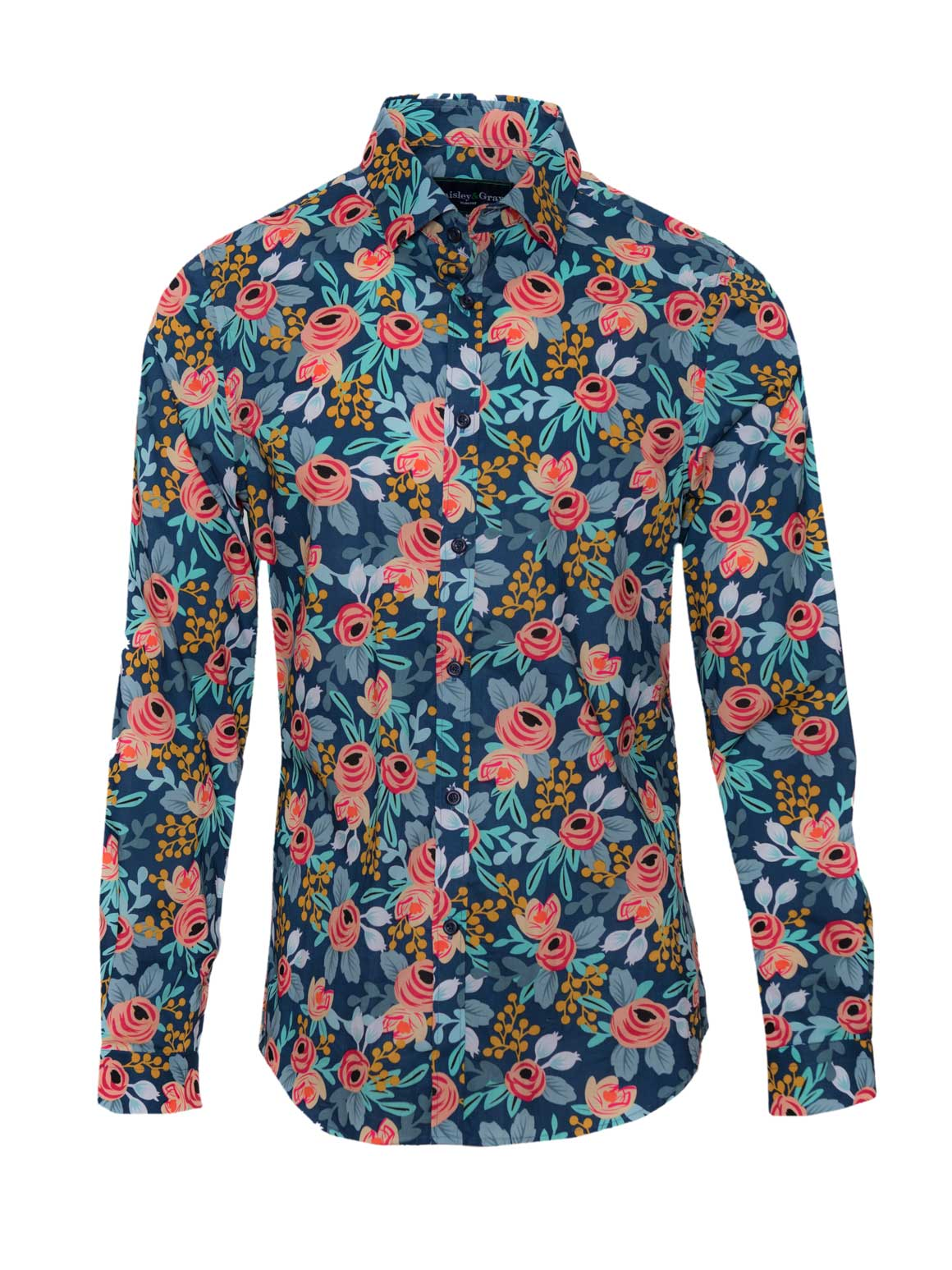 Long Sleeve Shirt - Rose & Rust Floral