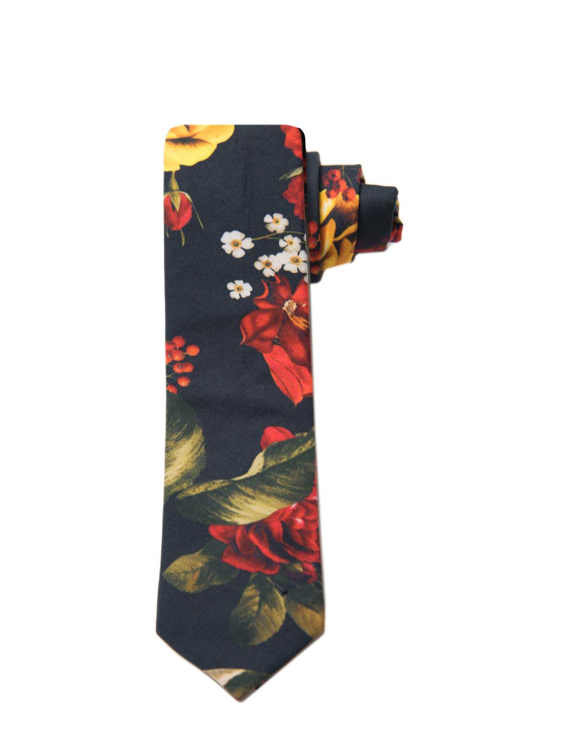 Stanley Tie - Red & Gold Floral