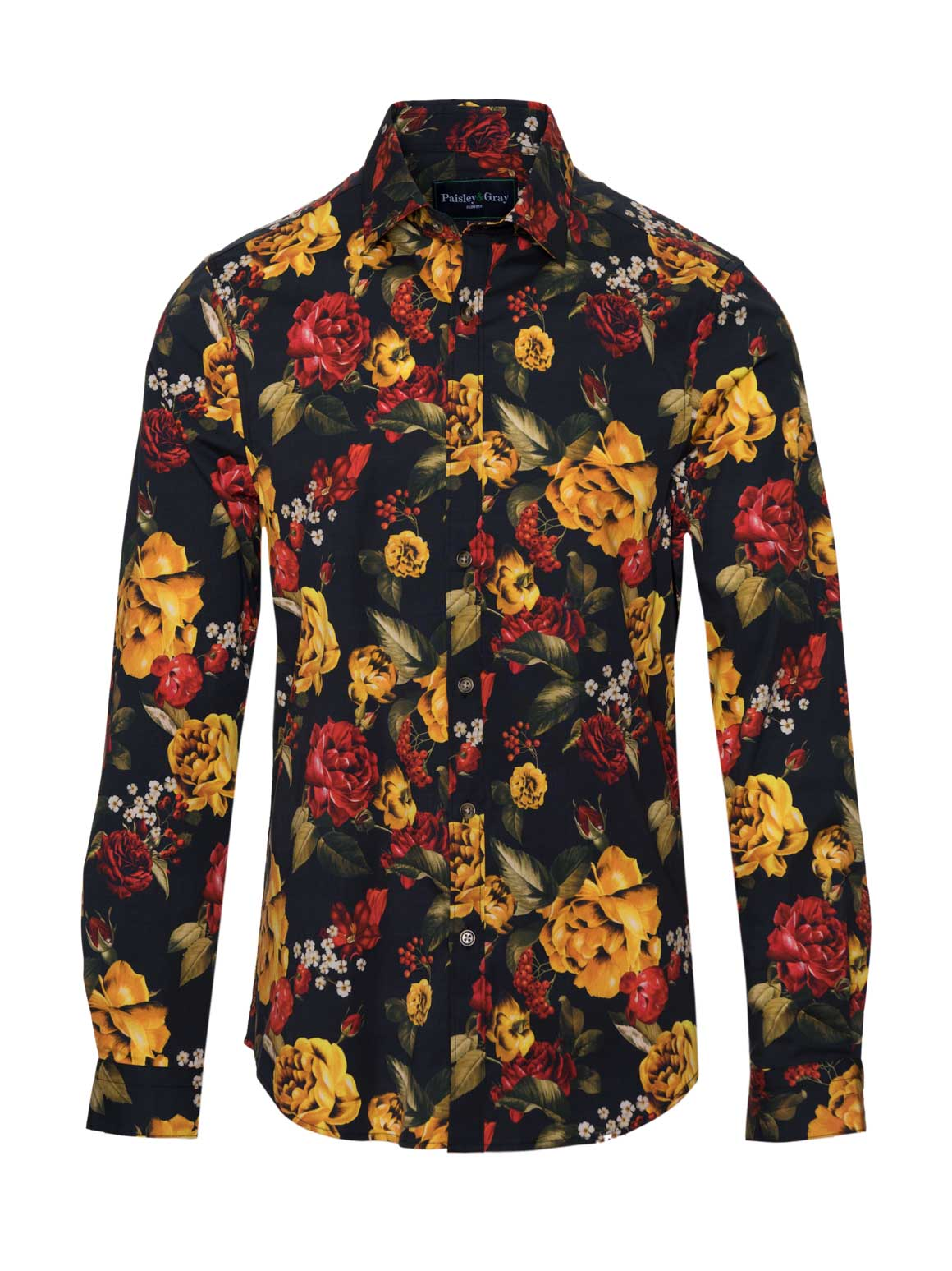 Long Sleeve Shirt - Golden Roses