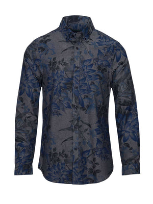 Long Sleeve Shirt - Royal Floral