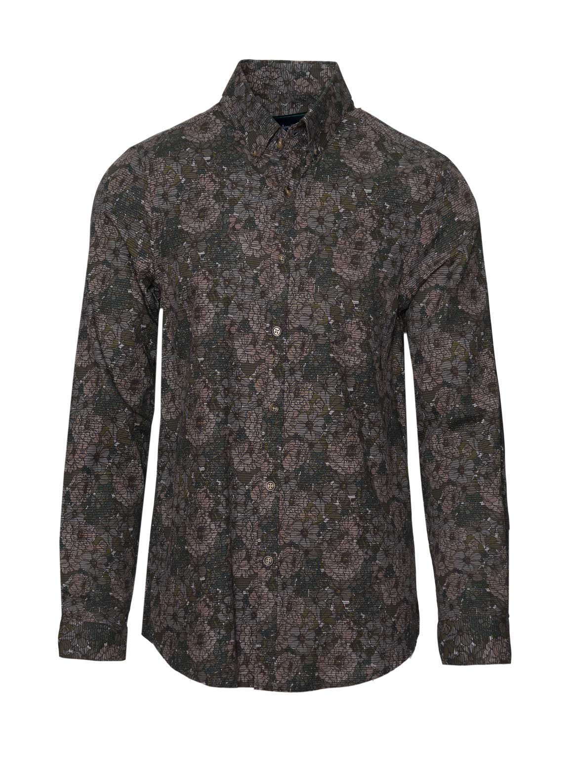 Long Sleeve Shirt - Floral Camo
