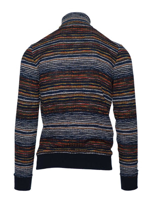 Turtleneck - Red & Navy Multi Stripe