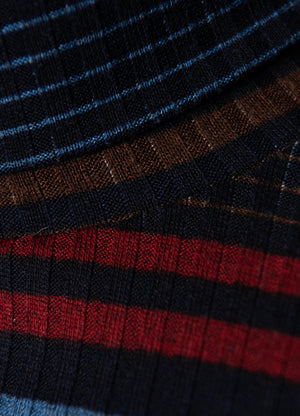 Turtleneck - Slim - Blue Stripe