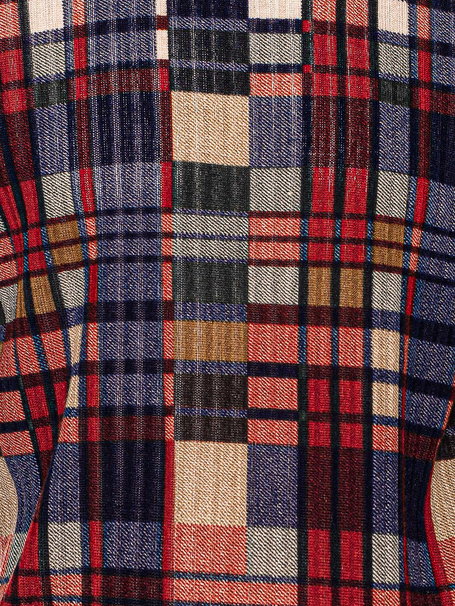 Crew Knit - Red Multi Plaid