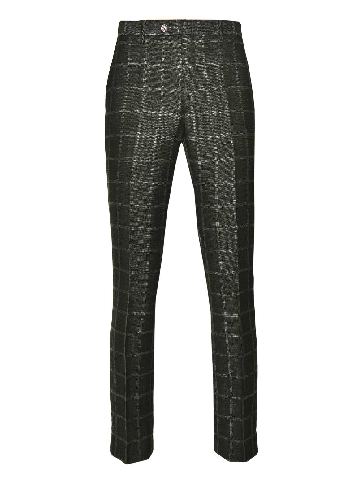 Ltd Edition Downing Pants - Slim - Green Windowpane