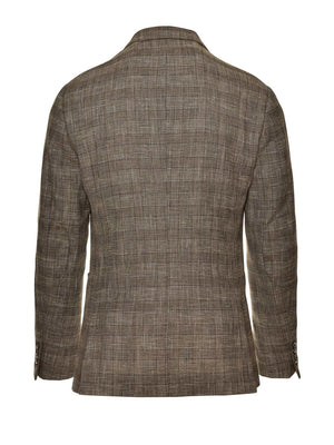 Ltd Edition Dover Notch Jacket - Slim - Tan Blue Plaid