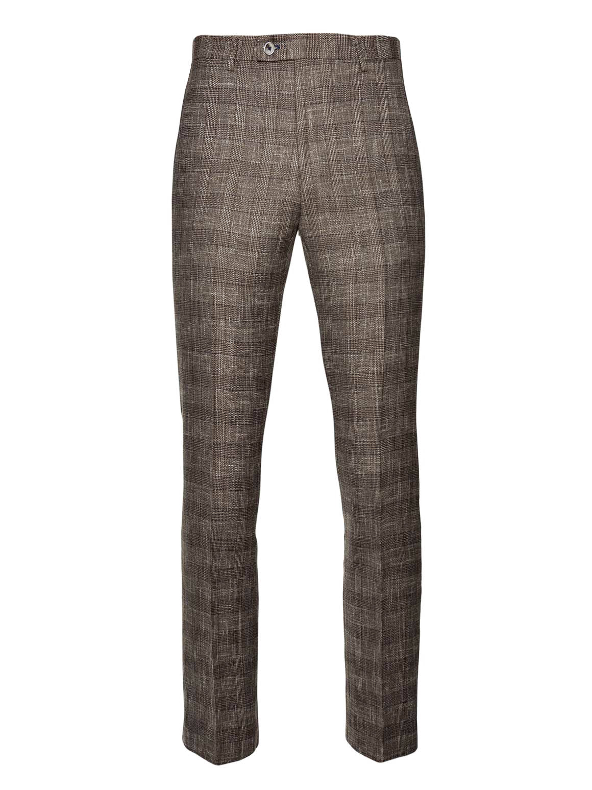 Ltd Edition Downing Pants - Slim - Tan Blue Plaid
