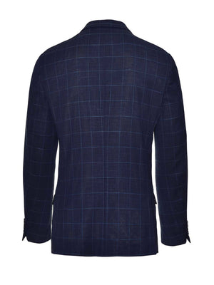 Ltd Edition Dover Notch Jacket - Slim - Navy Light Blue Windowpane