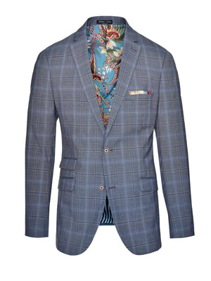Dover Notch Jacket - Slim - Periwinkle & Purple Plaid