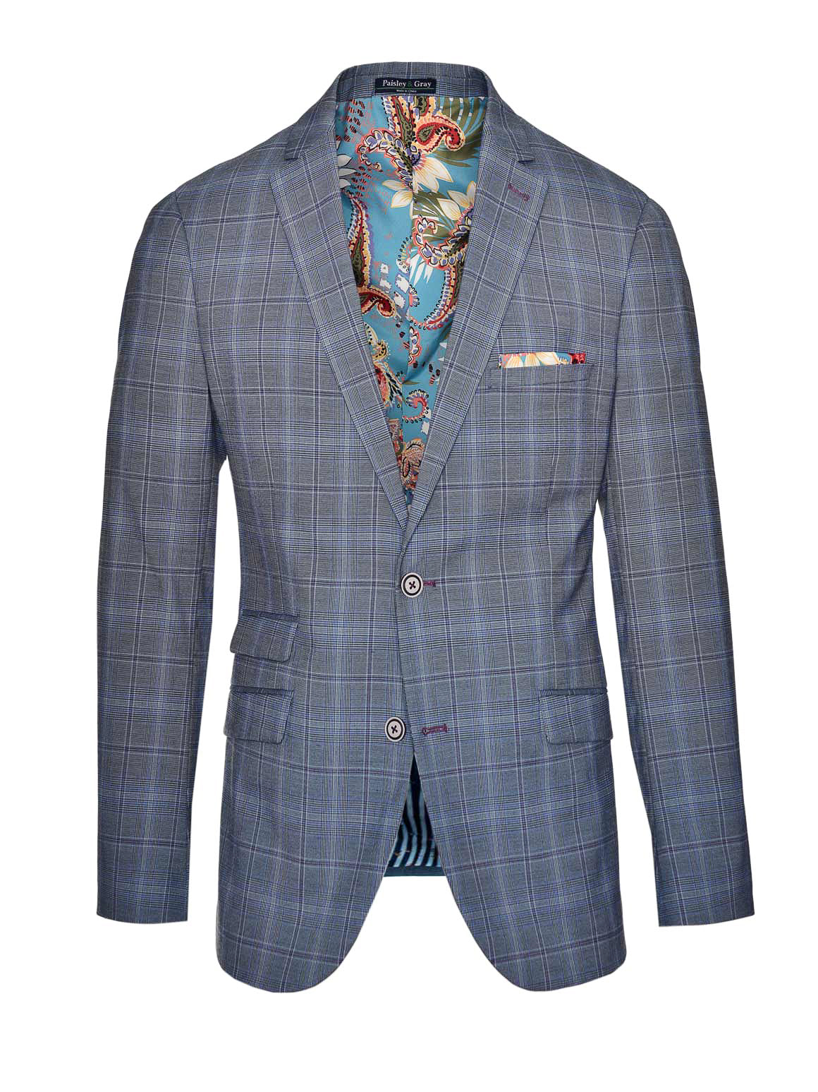Dover Notch Jacket  - Periwinkle-Purple Plaid