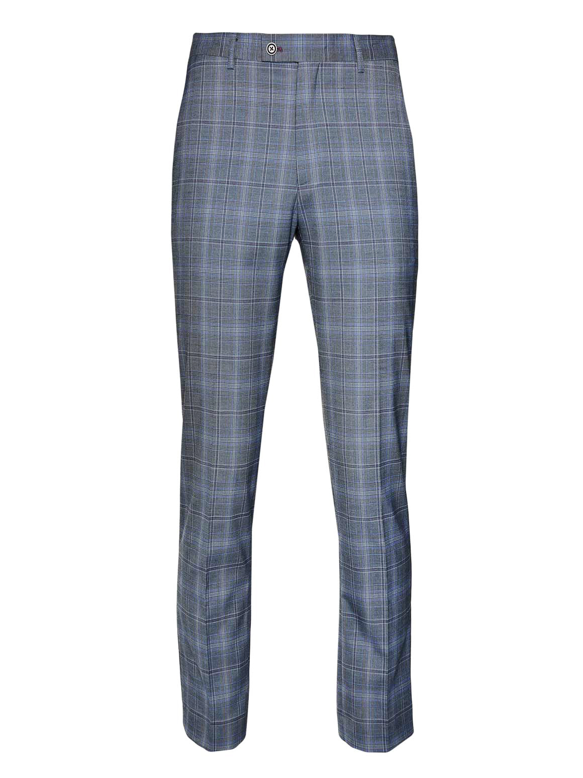 Downing Pants - Slim - Periwinkle & Purple Plaid