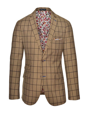 Dover Notch Jacket - Slim - Tan Plaid