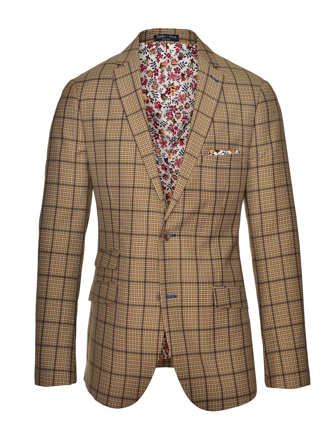 Dover Notch Jacket  - Tan Plaid