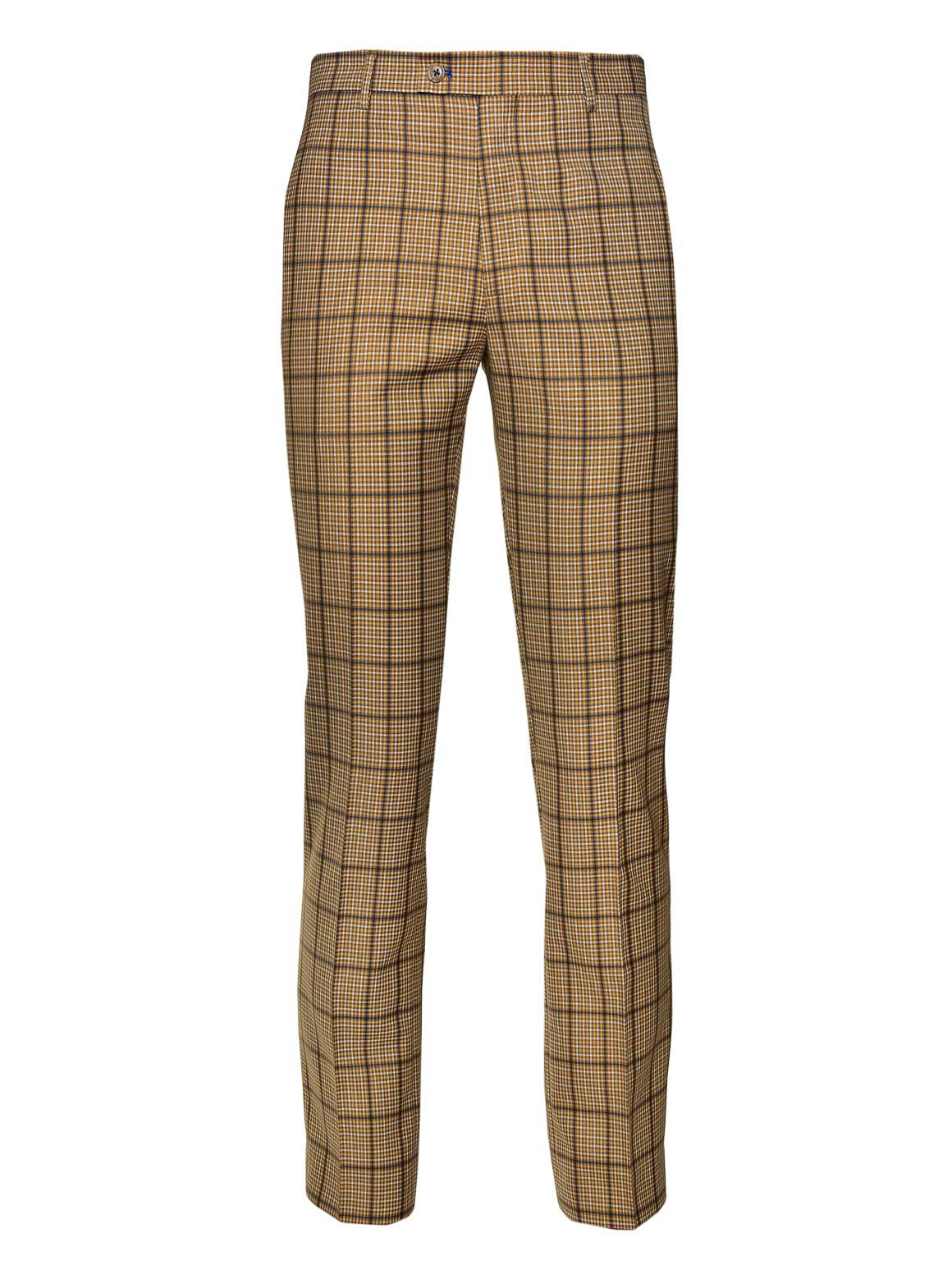 Downing Pants - Slim - Tan Plaid