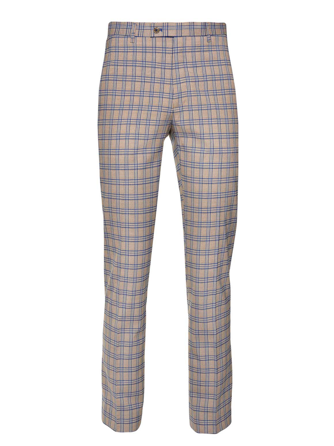 Downing Pants  - French Blue Tan Plaid
