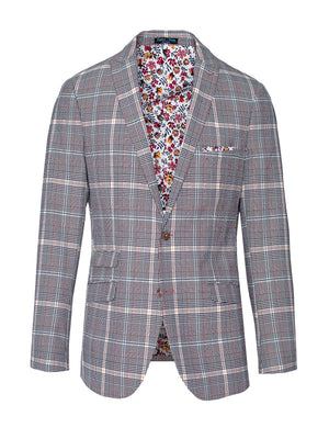 Ashton Peak Jacket - Slim - Tangerine Plaid