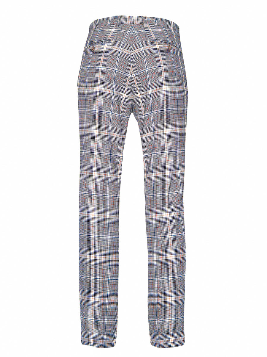 Downing Pants - Slim - Tangerine Plaid