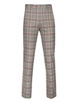 Downing Pants - Slim - Pink Yellow Plaid
