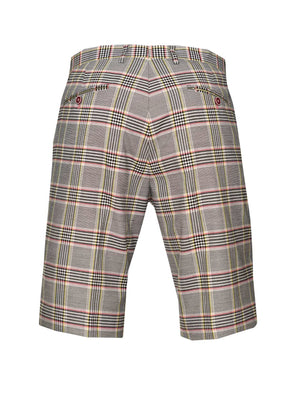 Fairview Shorts - Slim - Pink Yellow Plaid