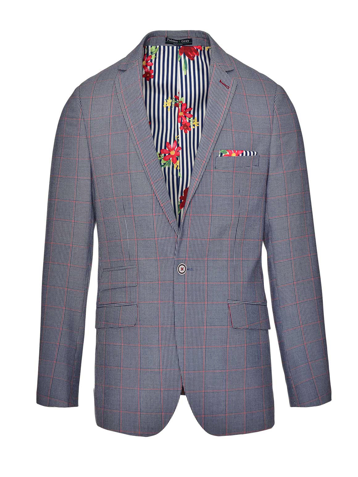 Kingsland Notch Jacket  - Blue Red Window Plaid