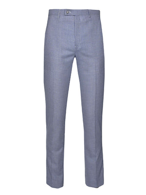 Downing Pants - Slim - Blue White Double Basket Weave