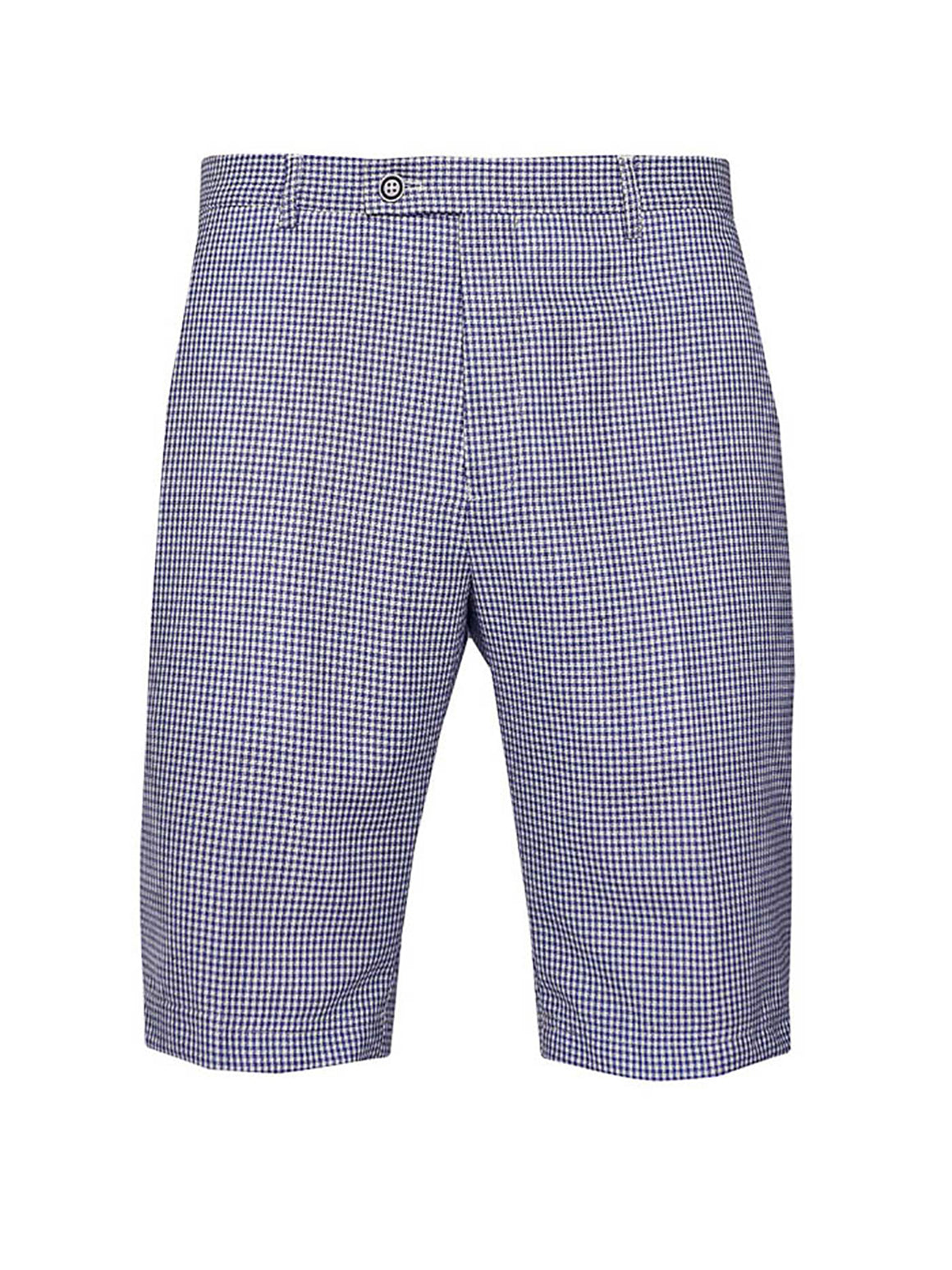 Fairview Shorts  - Blue White Double Basket Weave