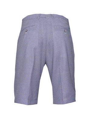 Fairview Shorts - Slim - Blue White Double Basket Weave