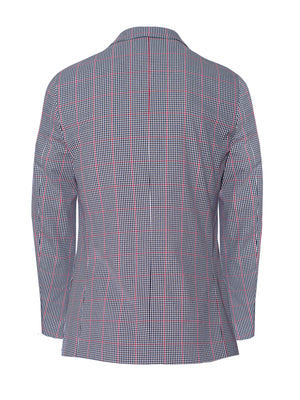 Smithfield Peak Jacket - Skinny - Black Red White Gingham Check