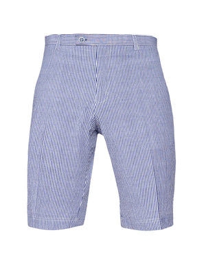 Fairview Shorts  - Slim - Blue White Seersucker