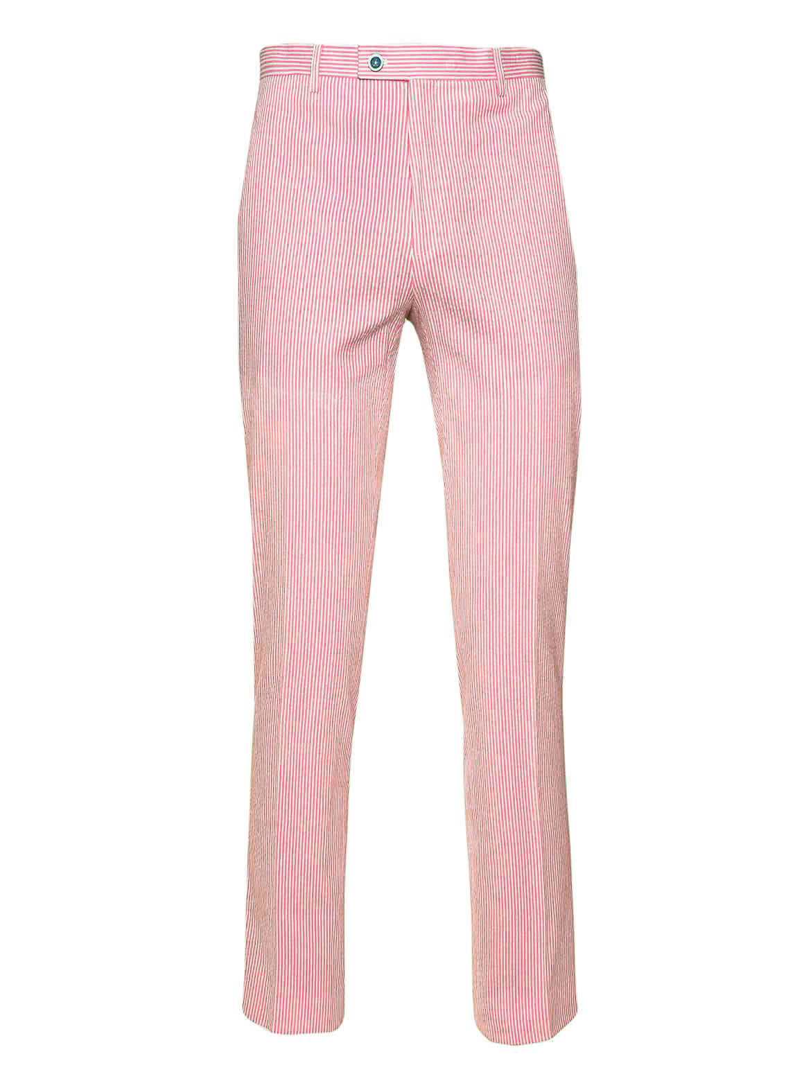 Downing Pants - Slim - Pink & White Seersucker