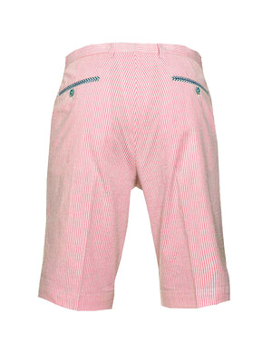 Fairview Shorts - Slim - Pink/White Seersucker